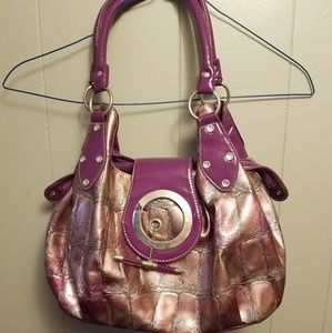 Large pink and purple purse
